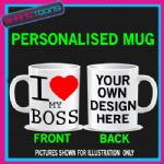 I LOVE HEART MY BOSS COFFEE MUG GIFT